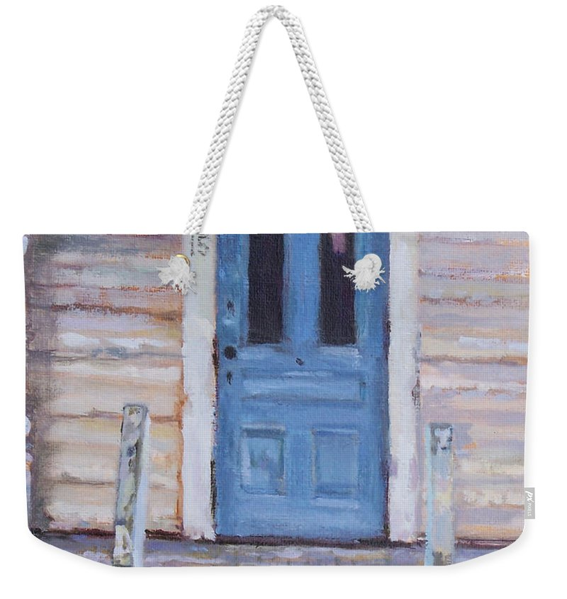 Victorian Weekender Tote Bag featuring the painting An Invitation To Tea by Alicia Drakiotes