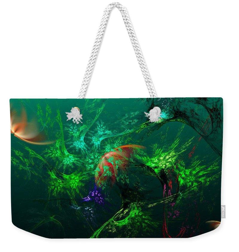 Fine Art Weekender Tote Bag featuring the digital art An Octopus's Garden by David Lane