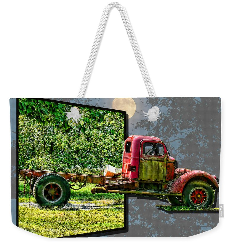 Truck Weekender Tote Bag featuring the photograph An Old Relic by Ericamaxine Price