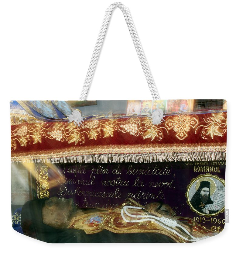 Orthodox Weekender Tote Bag featuring the photograph An Orthodox Monk by Munir Alawi