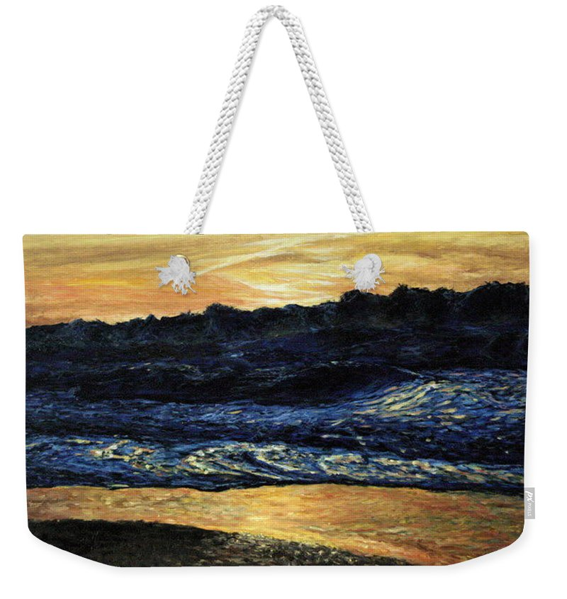 Landscape Weekender Tote Bag featuring the painting Anarchy by Pablo de Choros