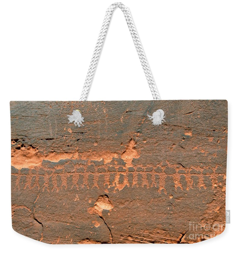 Anasazi Weekender Tote Bag featuring the photograph Anasazi Dancers by David Lee Thompson