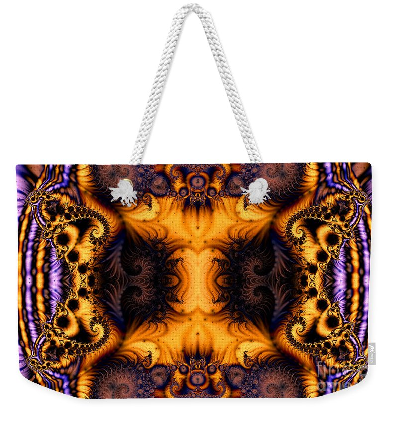 Clay Weekender Tote Bag featuring the digital art Anatomy Of Fuzzy Logic by Clayton Bruster