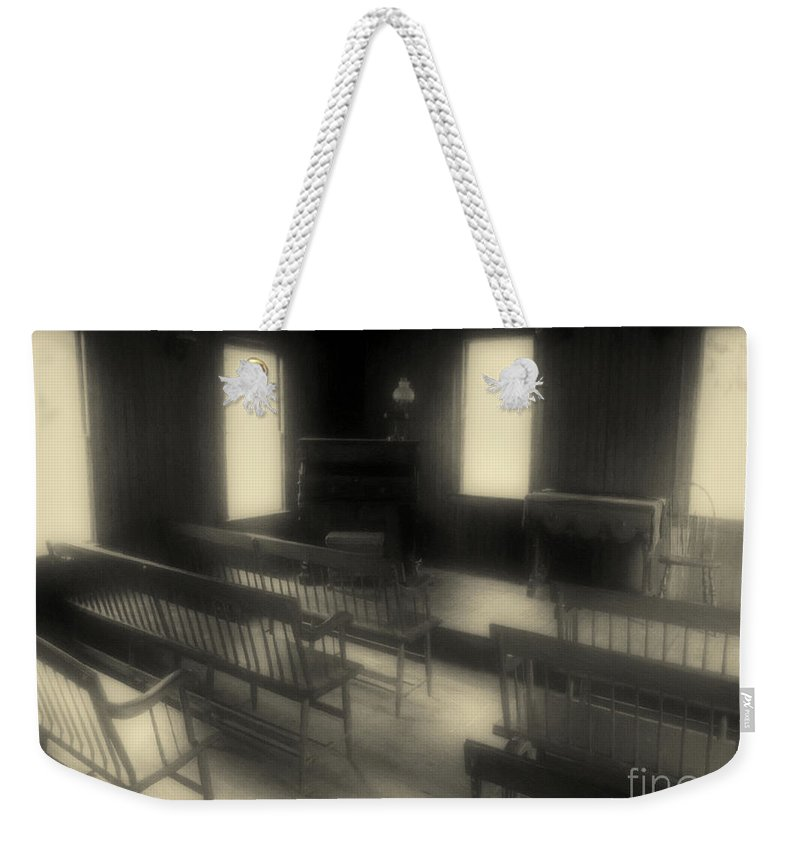 Benches Weekender Tote Bag featuring the photograph Ancestor Worship by RC DeWinter