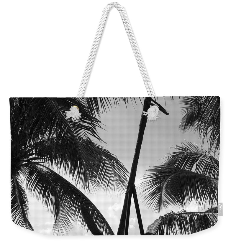 Black And White Weekender Tote Bag featuring the photograph Anchor In Black And White by Rob Hans