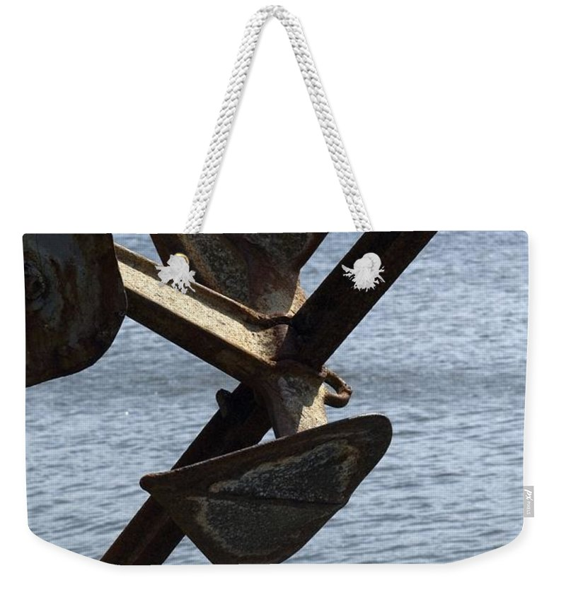 Anchor Weekender Tote Bag featuring the photograph Anchor by Sara Stevenson