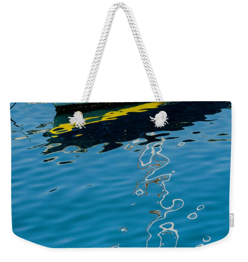 Anchored Boat Weekender Tote Bag featuring the photograph Anchored Boat II by Wolfgang Stocker
