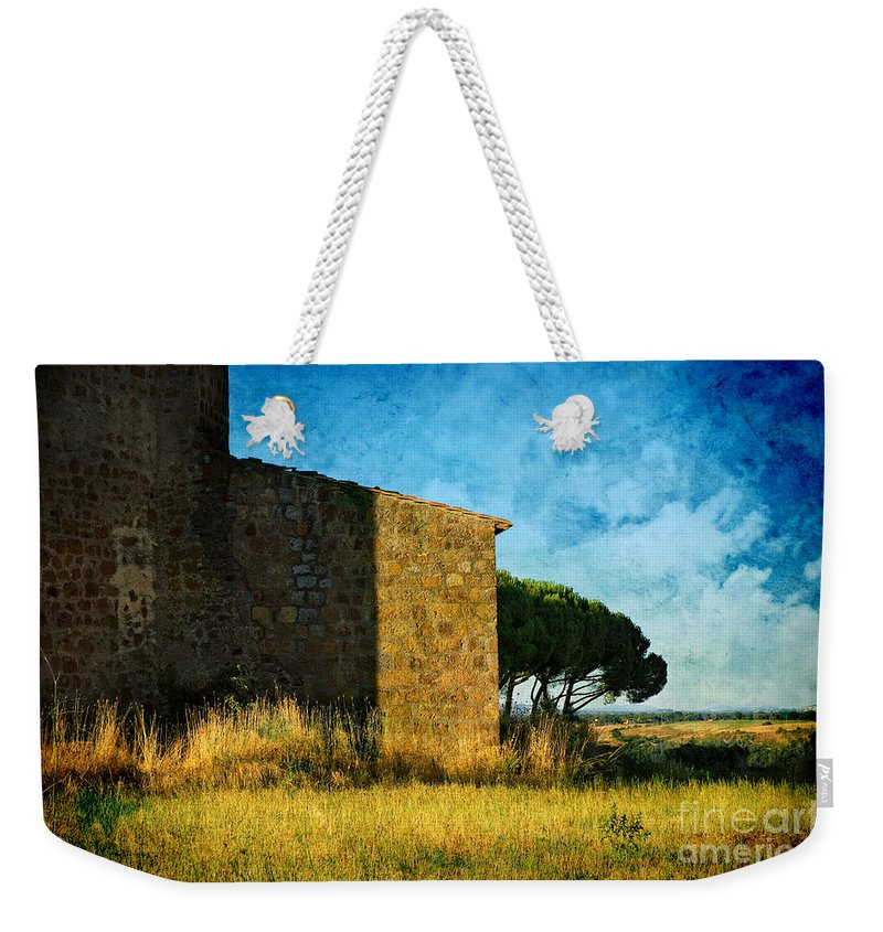 Ancient Weekender Tote Bag featuring the photograph Ancient Church - Italy by Silvia Ganora
