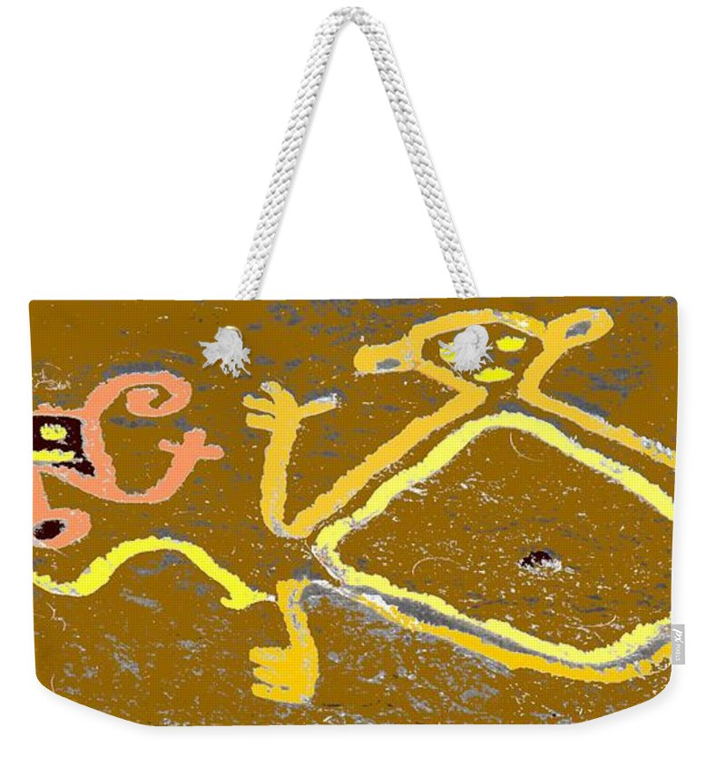 Native Weekender Tote Bag featuring the photograph Ancient Drawings by Ian MacDonald