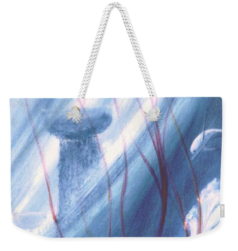 Underwater Seascape Weekender Tote Bag featuring the painting Ancient Latte by Dina Holland