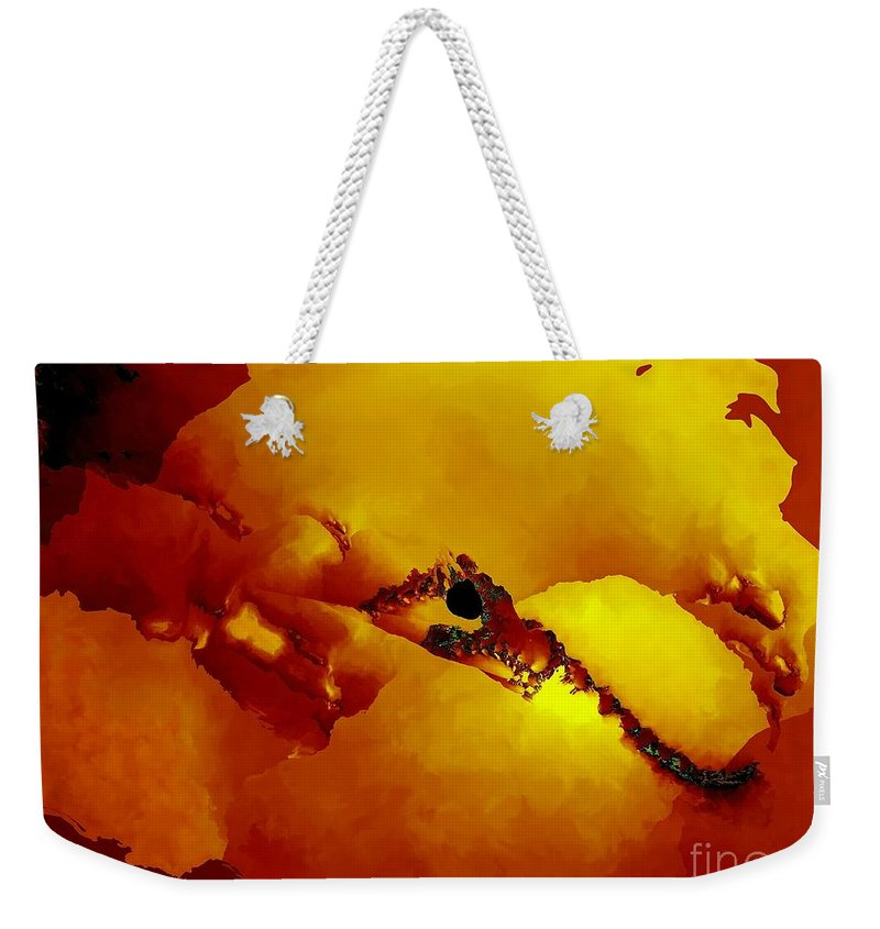 Fractal Art Weekender Tote Bag featuring the digital art Ancient Map by Ron Bissett
