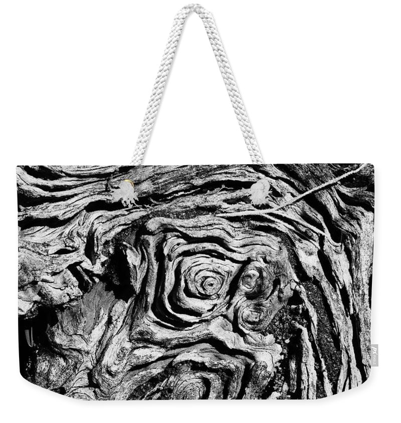 Tree Weekender Tote Bag featuring the photograph Ancient Stump by Christopher Holmes