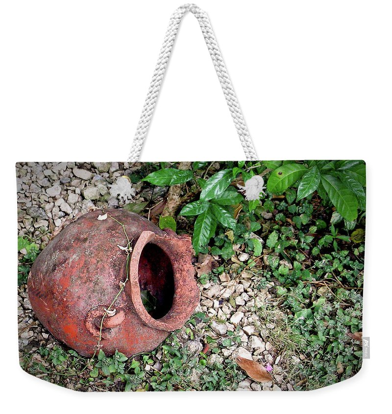 Ancient Weekender Tote Bag featuring the photograph Ancient Urn 1 by Douglas Barnett