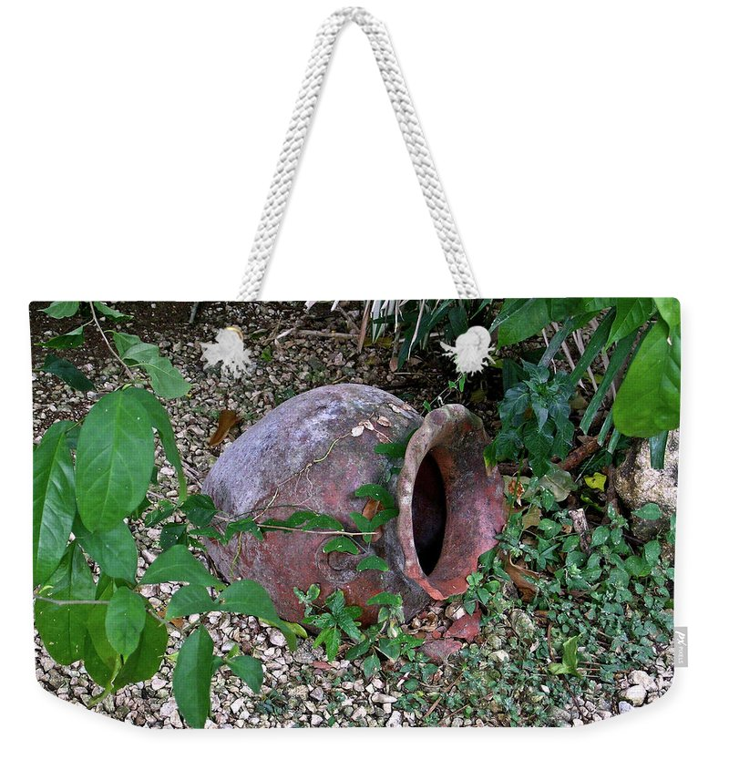 Ancient Weekender Tote Bag featuring the photograph Ancient Urn 2 by Douglas Barnett