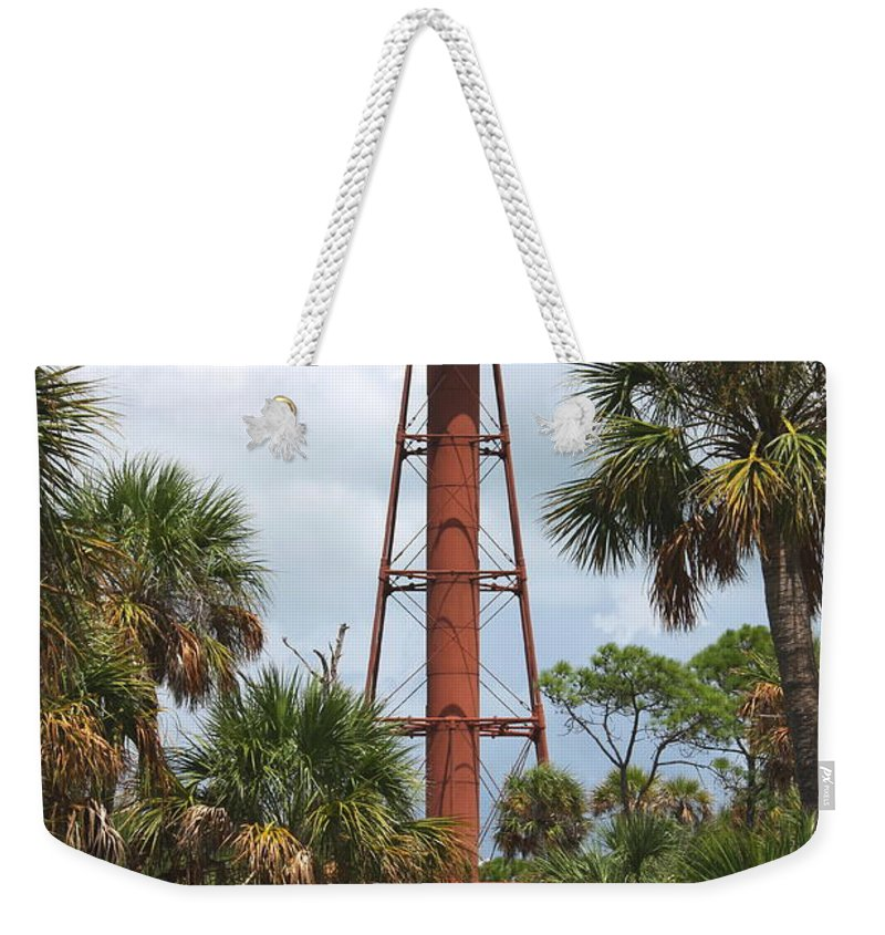 Lighthouse Weekender Tote Bag featuring the photograph Anclote Key Lighthouse by Barbara Bowen