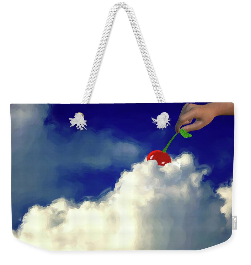 And A Cherry On Top Weekender Tote Bag featuring the painting And A Cherry On Top by Methune Hively
