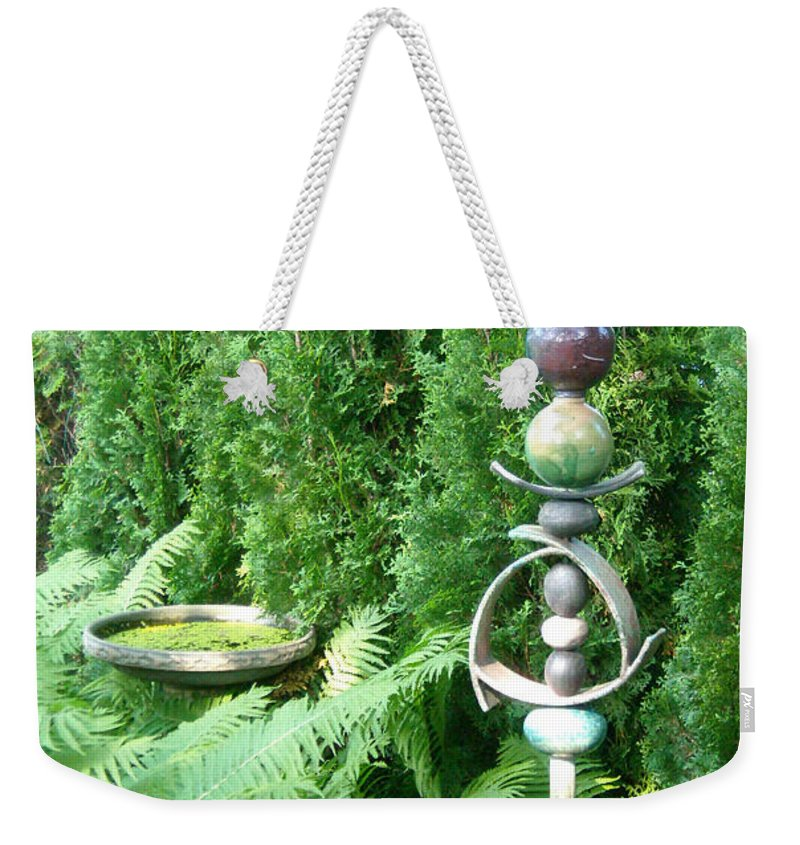 Sculpture Weekender Tote Bag featuring the photograph And Sculpture Garden by Line Gagne