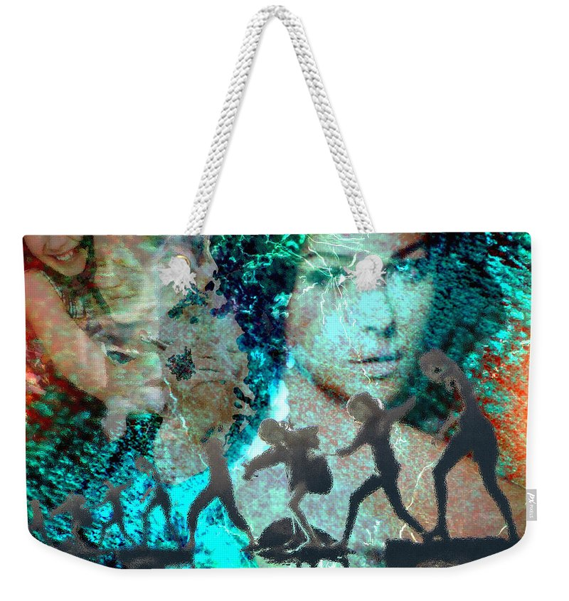 Childhood Weekender Tote Bag featuring the digital art And that Reminds Me by Seth Weaver