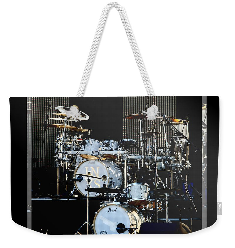 Drums Weekender Tote Bag featuring the photograph And The Beat Goes On.... by Holly Kempe