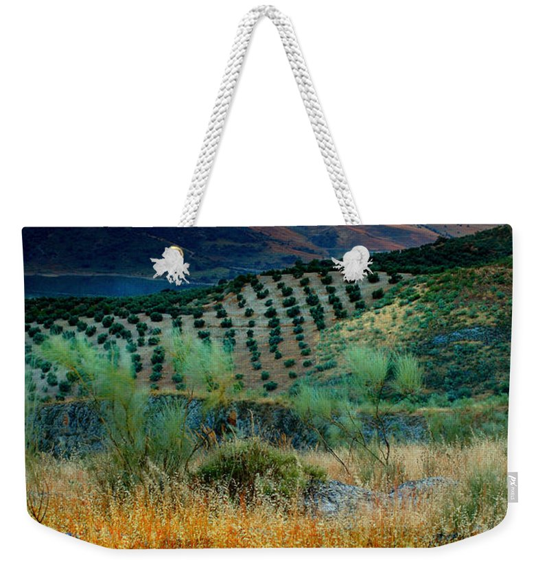 Andalucia Weekender Tote Bag featuring the photograph Andalucian Landscape by Mal Bray