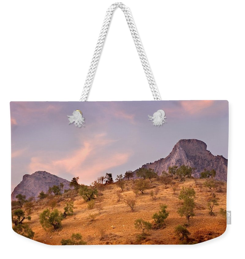 Andalucia Weekender Tote Bag featuring the photograph Andalucian Landscape Near Zahara De La Sierra Spain by Mal Bray