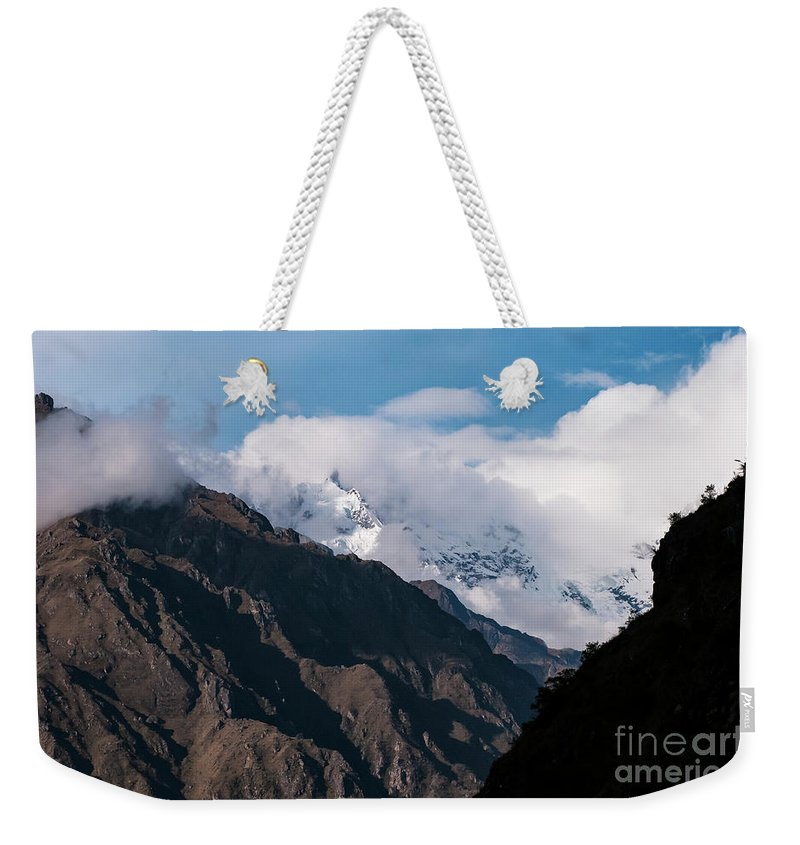 Inca Trail Weekender Tote Bag featuring the photograph Andes by Bob Phillips