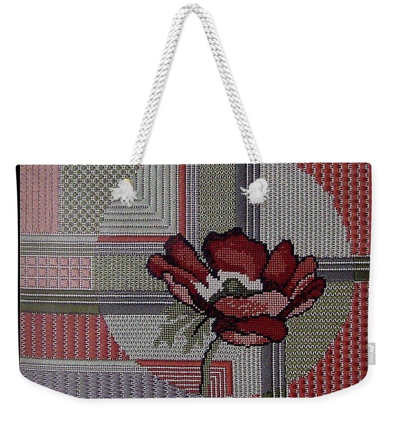 Thread Weekender Tote Bag featuring the tapestry - textile Anemonie by Shirley Heyn