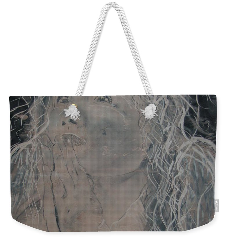 Weekender Tote Bag featuring the painting Angel 1 by J Bauer