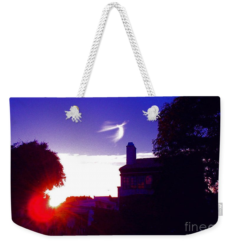 Angel Flight Weekender Tote Bag featuring the photograph Angel Flight by Jerome Stumphauzer