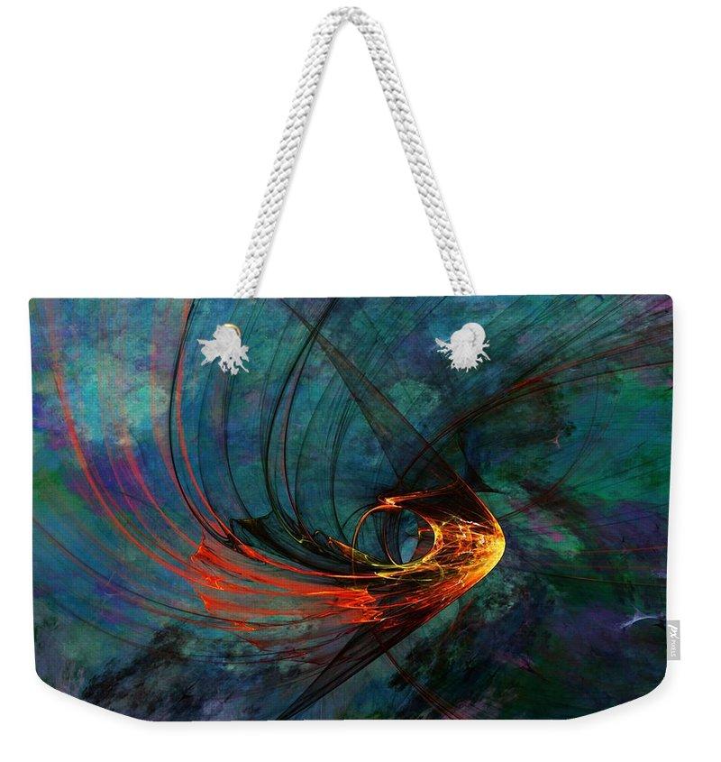 Fine Art Digital Art Weekender Tote Bag featuring the digital art Angel From The Deep by David Lane