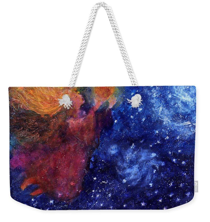 Angel Weekender Tote Bag featuring the painting Angel Heart by Diana Ludwig