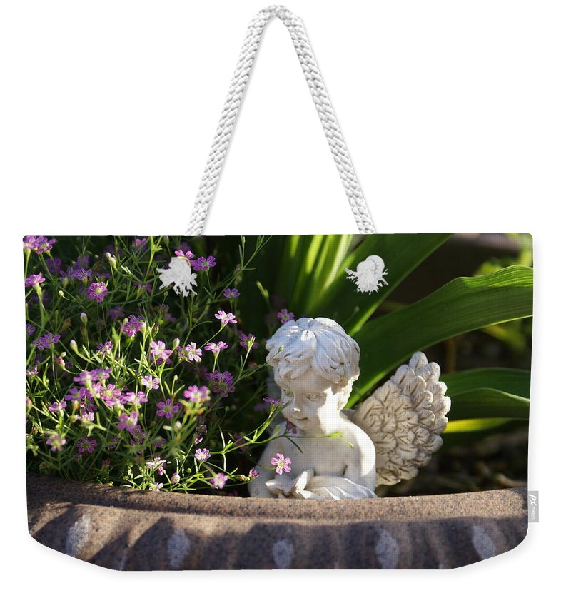 Yardart Weekender Tote Bag featuring the photograph Angel by Heidi Poulin