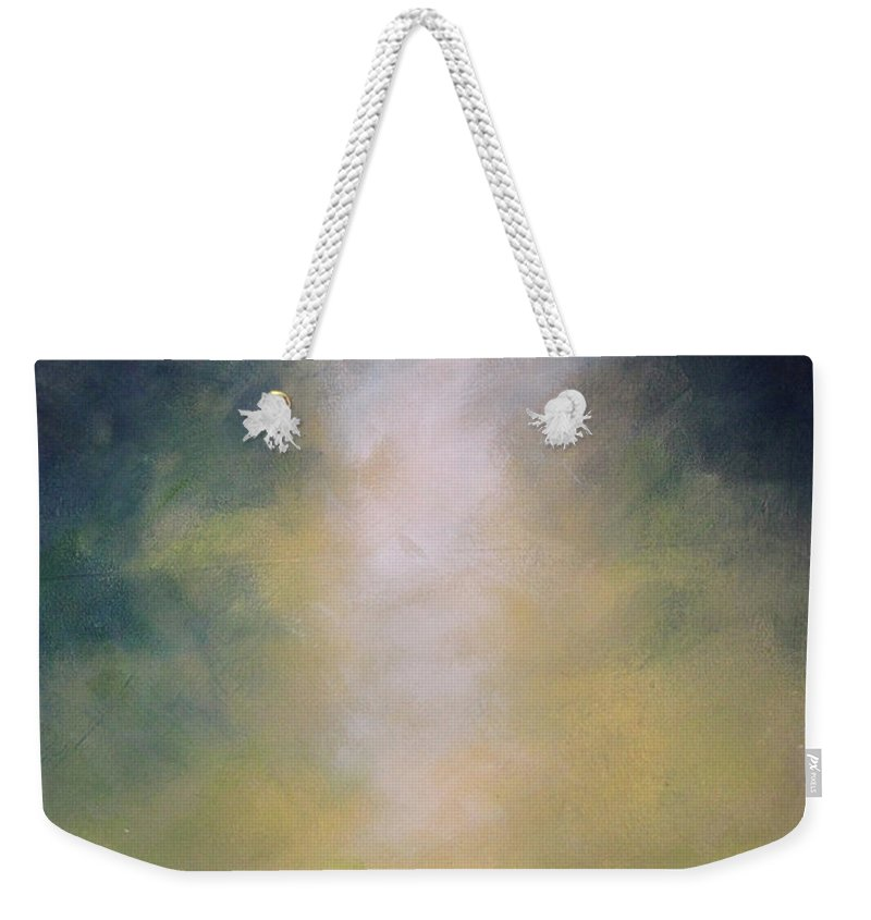 Angel Weekender Tote Bag featuring the painting Angel Light by Toni Grote