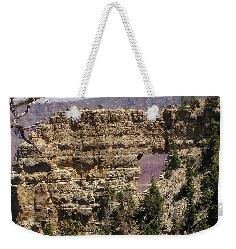 Grand Canyon Weekender Tote Bag featuring the photograph Angel by Louise Magno