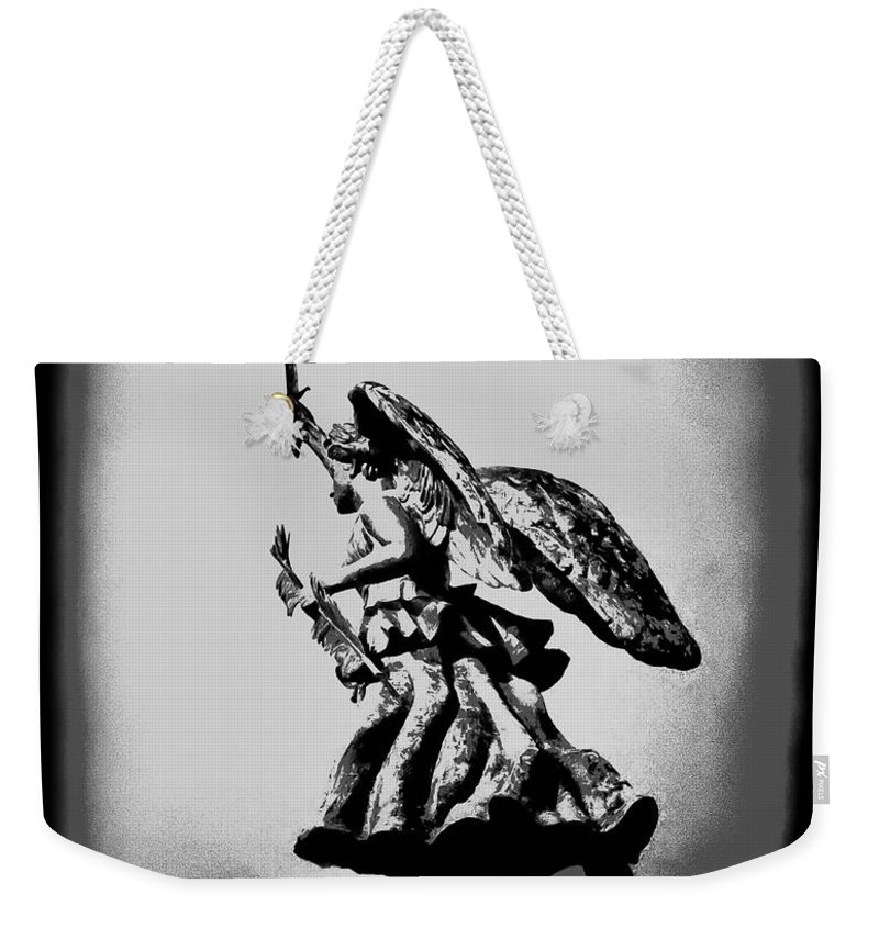 Angel Weekender Tote Bag featuring the photograph Angel Of Gettysburg by Bill Cannon
