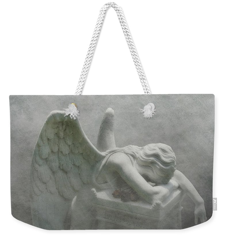 Angel Weekender Tote Bag featuring the photograph Angel Of Grief by Tom Mc Nemar
