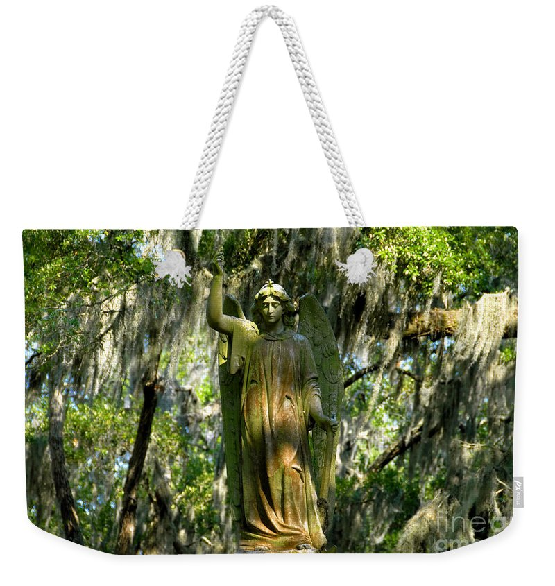 Savanna Georgia Weekender Tote Bag featuring the photograph Angel Of Savanna by David Lee Thompson