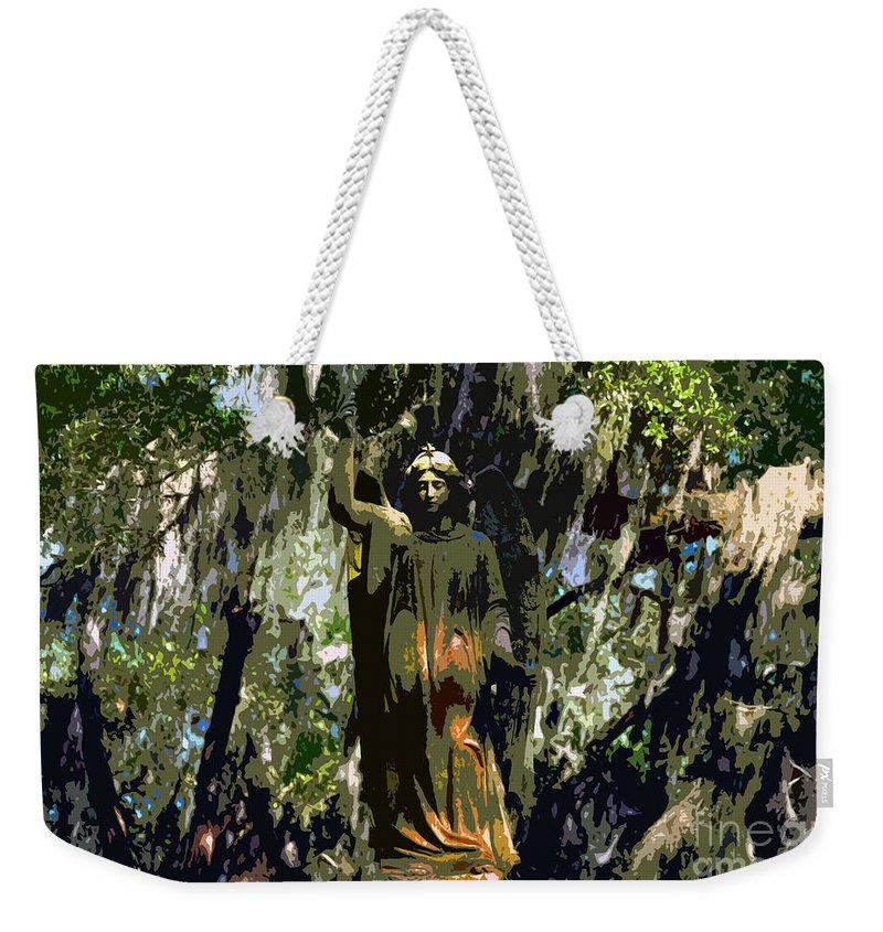 Angel Weekender Tote Bag featuring the painting Angel Of Savannah by David Lee Thompson