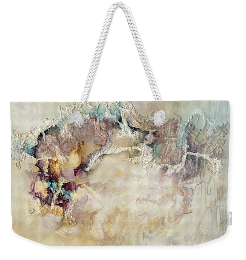 Abstract Weekender Tote Bag featuring the painting Angel Of The Morning by Thyra Moore