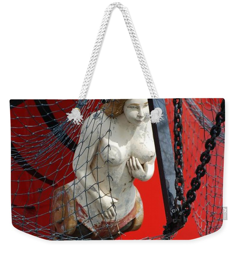 Ship Weekender Tote Bag featuring the photograph Angel Of The Seas by Rob Hans