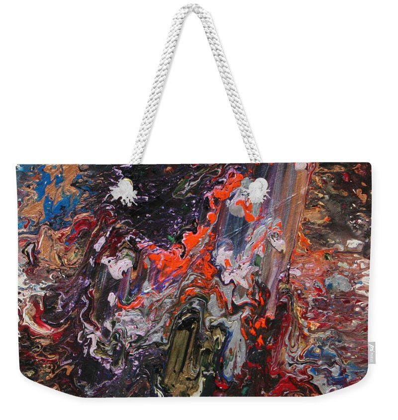 Fusionart Weekender Tote Bag featuring the painting Angel Rising by Ralph White