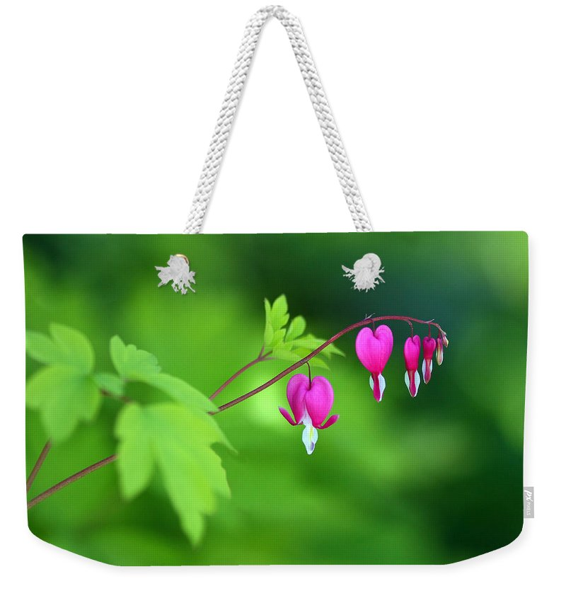 Hearts Weekender Tote Bag featuring the photograph Angels by Rebecca Cozart