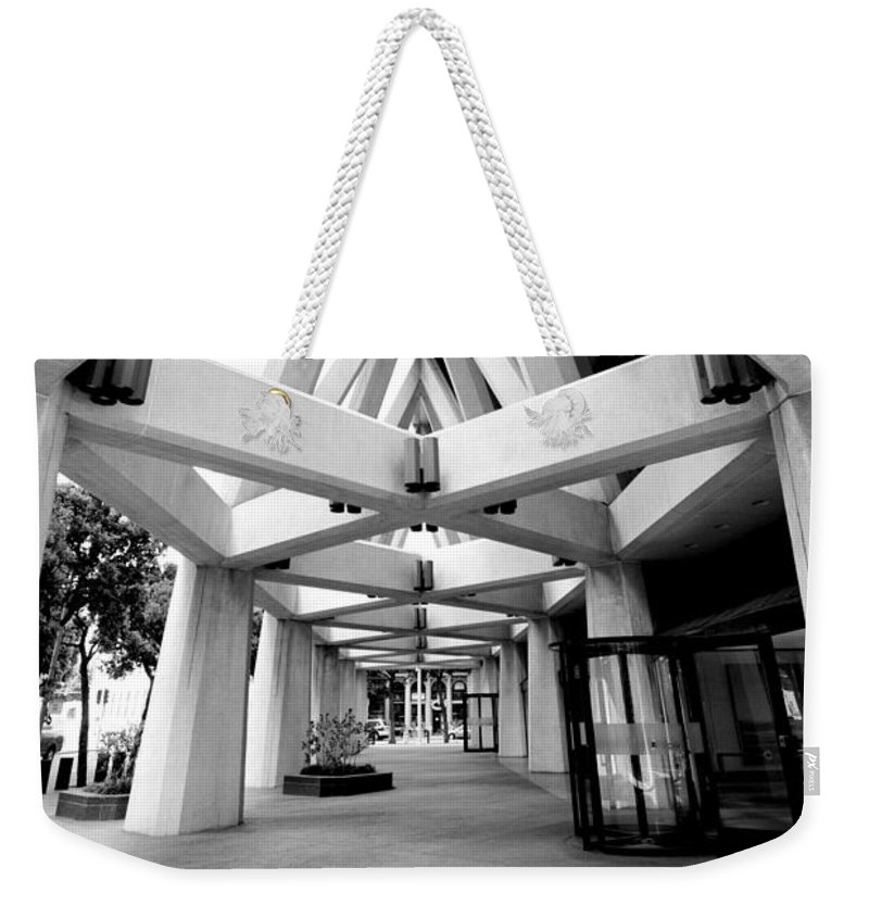 Trans America Building Weekender Tote Bag featuring the photograph Angles by Greg Fortier