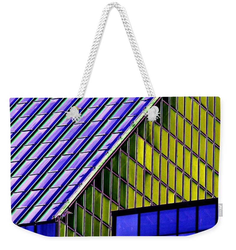 Seattle Weekender Tote Bag featuring the photograph Angles In The Sky by Tim Allen