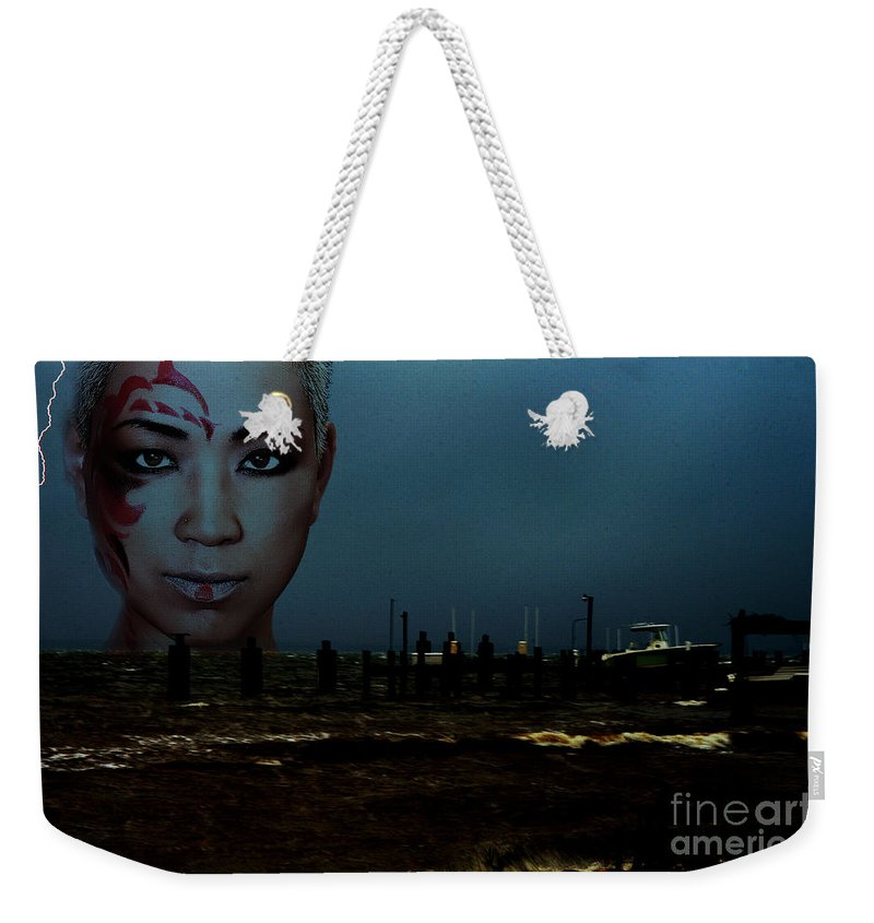Clay Weekender Tote Bag featuring the photograph Angry Sea by Clayton Bruster