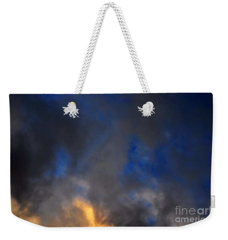 Clay Weekender Tote Bag featuring the photograph Angry Sky by Clayton Bruster