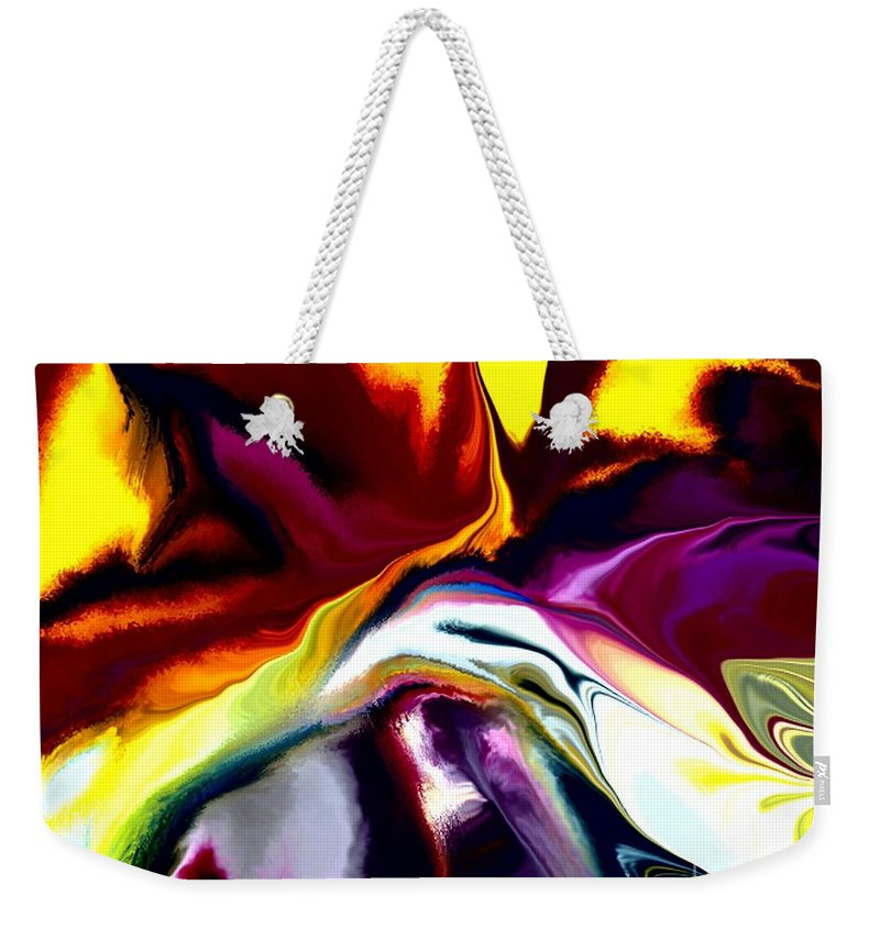 Abstract Weekender Tote Bag featuring the digital art Angst by David Lane