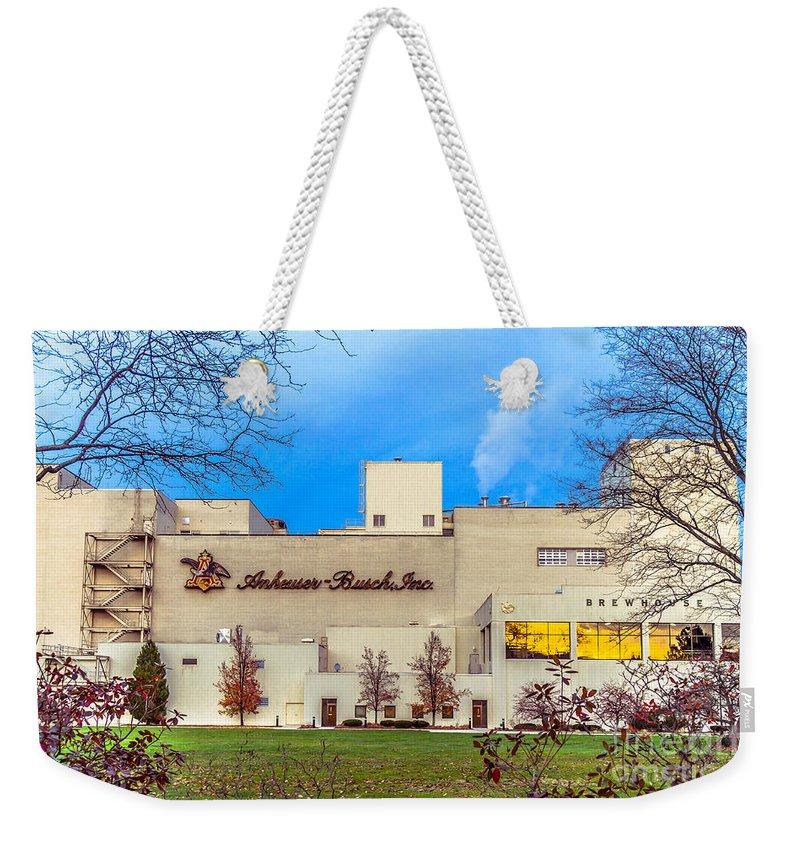 New England Weekender Tote Bag featuring the photograph Anheuser-busch In Merrimack by Claudia M Photography