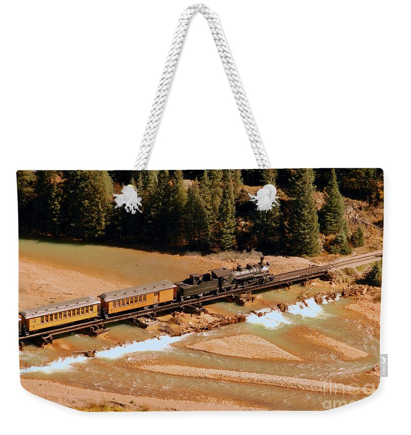 Animas River Weekender Tote Bag featuring the photograph Animas River Crossing by David Lee Thompson