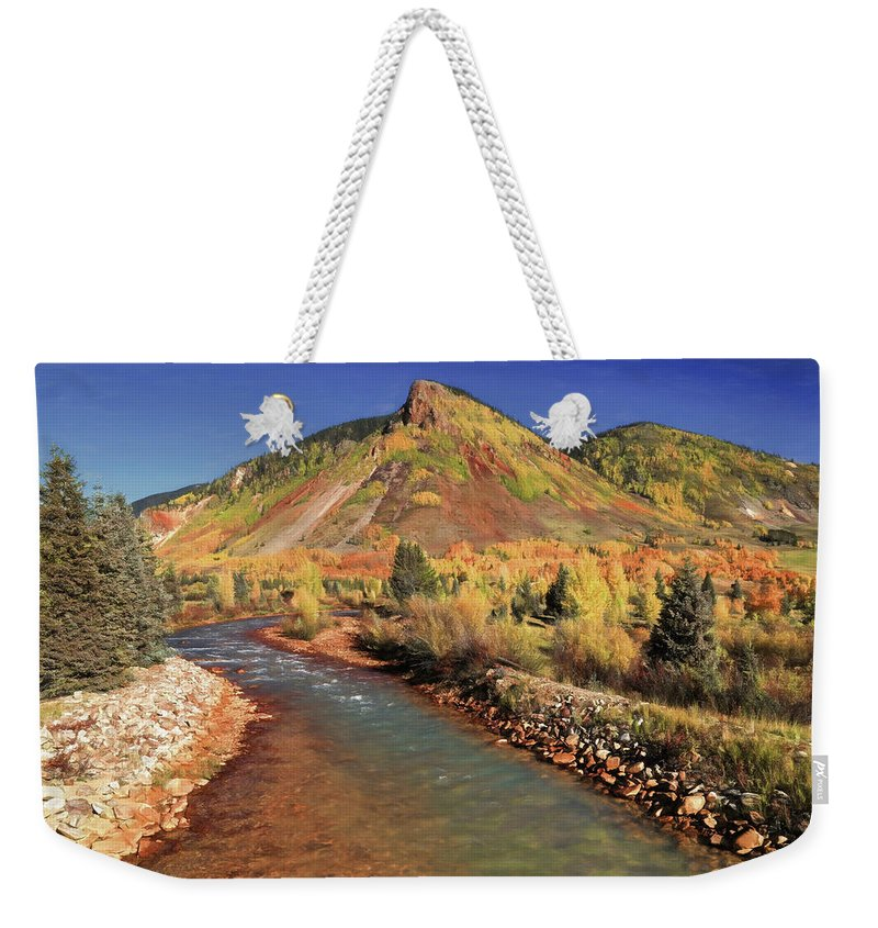 Animas River Weekender Tote Bag featuring the photograph Animas River In Silverton by Donna Kennedy